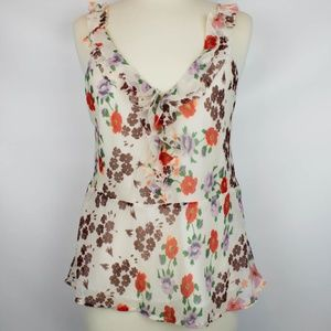 Lucky Brand | Cascade Ruffle Floral Tank size S